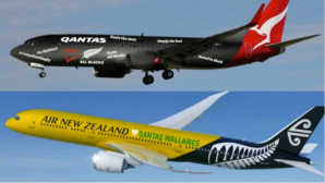 Qantas and Air New Zealand planes